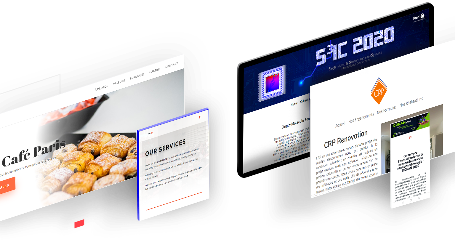 Nos réalisations - Des sites web personnalisés