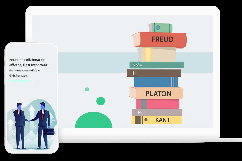 La philosophie de l'Agence du Site Web - La collaboration et l'échange