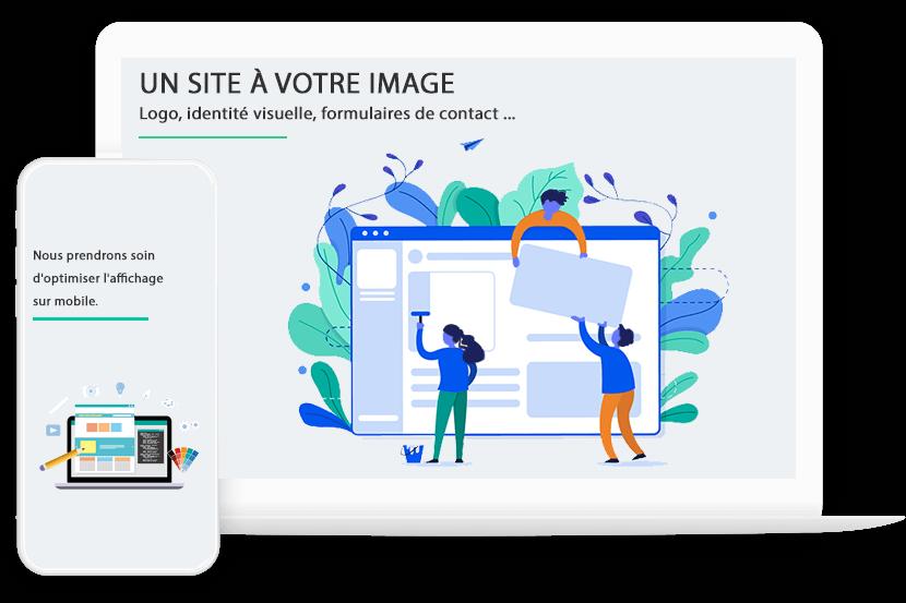 Un site web à votre image - création et référencement